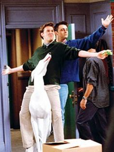 Chandler & Joey - best entrance ever lol