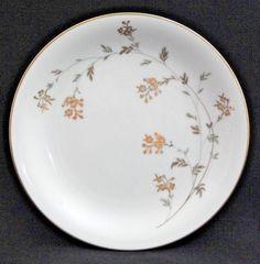 """NORITAKE China FLORENCE #5528 Bread Plate 8"""", White c.1954-60 #Noritake"""