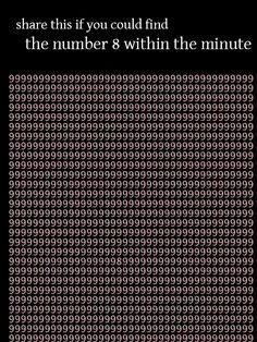 1분 안에 숫자 '8' 찾기 http://i.wik.im/72370