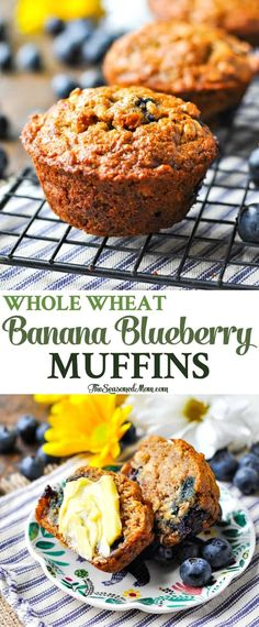 Whole grain muffins make a great breakfast. You have to scroll through a lot of pictures to get to the recipe, but it's a healthy go-with for soup or snacks, too.