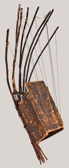 NMM 10989. Pluriarc (multi-neck harp), Benin (southwestern Nigeria), early 20th century