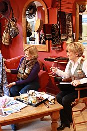 1.  Sit down with Jenny, with a cup of coffee and choose your style and fabric.