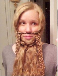 Braid Your Hair into a Gimli Beard