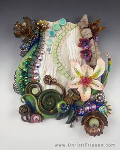 "christi friesen ""Garden of Excess"" polymer and mixed media"