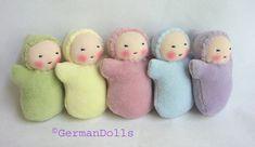 FOTO ------ Pocket Dolls set of 6 germandolls waldorf toy by germandolls,