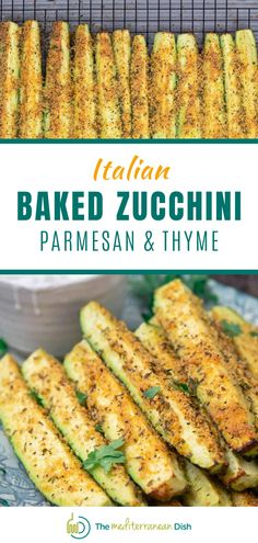 This is an amazing recipe for Baked Zucchini using Parmesean and Thyme for a flavor that will make this a go to in your house! Have these for an appetizer at dinner time  or make for a snack on the weekend to enjoy. Mediterranean Appetizers, Mediterranean Diet Recipes, Mediterranean Dishes, Vegetable Recipes, Vegetarian Recipes, Healthy Recipes, Easy Recipes, Healthy Cooking, Healthy Eating