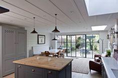 Modern Victorian House kitchen by Plain kitchen Co Kitchen Doors, Open Plan Kitchen, Pantry Doors, Cabinet Doors, Basement Kitchen, Kitchen Cabinets, Kitchen Living, New Kitchen, Bistro Kitchen