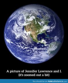 Funny even though it's me and Jennifer Lawrence.