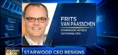 Starwood CEO Frits van Paasschen resigns - Watch hotel report now on HOTELIER TV: http://www.hoteliertv.net/international/starwood-ceo-frits-van-paasschen-resigns/
