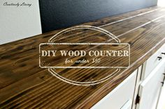DIY Wood Counter Top for under $50 by Creatively Living