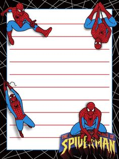 Journal Card - IOA - Spiderman - lines - 3x4 photo: A little 3x4inch journal card to brighten up your holiday scrapbook! Click on options - download to get the full size image (900x1200px). Logos/clipart belong to Universal/Islands of Adventure. ~~~~~~~~~~~~~~~~~~~~~~~~~~~~~~~~~ This card is **Personal use only - NOT for sale/resale/profit** If you wish to use this on a blog/webpage please use the code under Image Links and link back to here - please do not just take the original image. ...