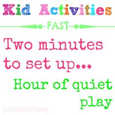 7 activities to keep kids entertained …  for when kids have spare time that needs to be filled