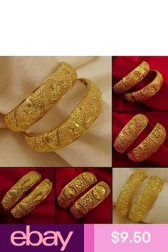 Complete your traditional look for the upcoming family function by wearing these Gold Plated Bangle set. These bangles have flawless golden finish for added attraction. Jewelry Design Earrings, Gold Jewelry, Girls Earrings, Jewellery Designs, Diamond Jewelry, Women Jewelry, Fashion Jewelry, Gold Plated Bangles, Silver Bracelets
