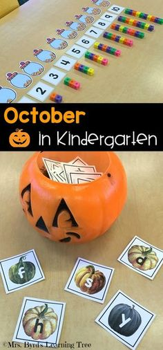 Fun, hands-on, math and literacy for October in your kindergarten classroom! $
