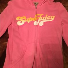 Juicy Couture cotton suit Preowned in good condition juicy couture suit. Warm cotton hoodie and pants in size medium. Please notice pants are long and show signs of wear otherwise in good condition. Please message with any additional questions Juicy Couture Other