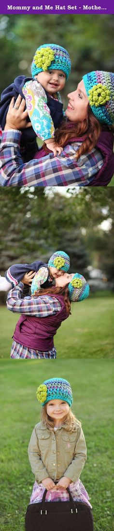 Mommy and Me Hat Set - Mother Daughter Hats - Matching Hats - Baby Shower Gifts - Christmas Gift Set. Buyer beware! You will never be able to leave the house without compliments galore! (Ask me how I know!) This adorable mommy and baby hat set will be hand crocheted by me with my fellow hat lovers in mind. All Crochet Collection hats are made with unique color combinations and great buttons!.
