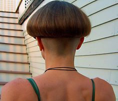 """Tabitha's Back""     Never Before Seen Angle of her Classic Mushroom-Bowl-cut"