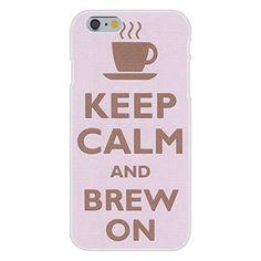 Apple iPhone 6 Custom Case White Plastic Snap On - Keep Calm and Brew On Coffee Tea Mug