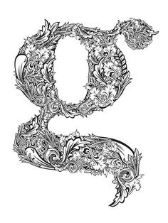 "✍ Sensual Calligraphy Scripts ✍ initials, typography styles and calligraphic art - ""g"" by Athur Sinai"