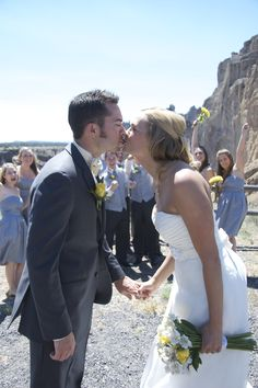 by Haley Danielle Photography #wedding #kiss