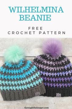 Easy Crochet Hat, Crochet Winter, Crochet Beanie, Crochet Crafts, Yarn Crafts, Crochet Projects, Free Crochet, Knit Crochet, Crocheted Hats