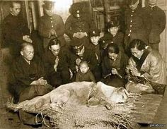 """Praying for recently deceased """"Chuken Hachiko"""" in Tokyo's Shibuya Station baggage room on March 8 1935 [[MORE]] """" Hachikō (ハチ公?, November 1923 – March was an Akita dog born on a farm near. Rare Historical Photos, Rare Photos, Love My Dog, Puppy Love, Hachiko Dog, Hachi A Dogs Tale, The Meta Picture, Culture Art, Japanese Dogs"""