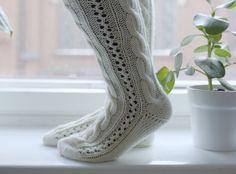 PITKÄT PALMIKKOSUKAT - OHJE Knitting Socks, Knit Socks