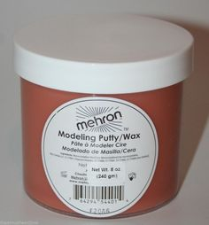 Flesh Putty theatrical face body modeling wax special FX effects makeup clown TV #Mehron #Makeup