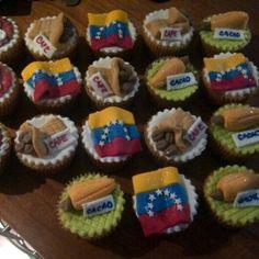 un rico cupcake tricolor venezolano