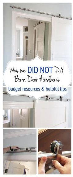 Barn Door Hardware, Why we chose not to DIY, sources, tips and helpful ideas to easily and inexpensively makeover your space with barn doors. by juliette