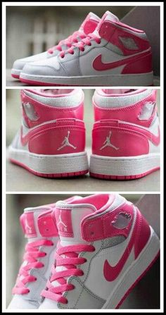 Girls Air Jordan 1 Mid GS | Metallic Platinum & Dynamic Pink                                                                                     Ⓙ_⍣∙₩ѧŁҝ!₦ǥ∙⍣
