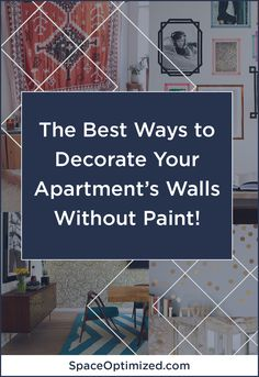 Apartment Design Tips: Redoing Walls Without Paint Small House Interior Design, Small Apartment Design, Apartment Interior Design, Tiny House Design, Interior Decorating, Apartment Walls, Cool Apartments, Smart Design, Wall Colors