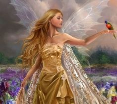Image result for beautiful gold and white fairies