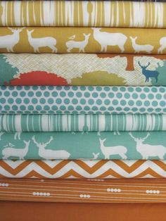 Fabricworm Custom Bundle, King of the Forest, in Fat Quarters 9 Total