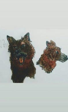 Brown wolf Camel, Wolf, Lion Sculpture, Statue, Brown, Animals, Art, Animais, Craft Art