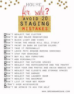Interior Design Services - Breanna Megan Studio Home Staging, Home Decor, Staging checklist, interior design tips www.breannamegan.com