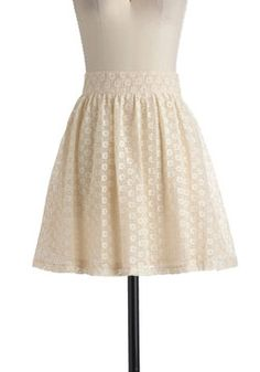 Saw It in a Cream Skirt, #ModCloth