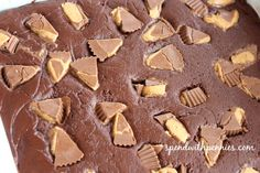 Reese's Fudge! Rich chocolatey fudge filled with creamy peanut butter cups. Pin it to your DESSERT board to SAVE it! Follow Spend With Pennies on Pinterest for more great recipes! PB & Chocolate… something about it is just so… right! You won't believe how quick and easy this recipe comes together! Just a few simple ingredients and a microwave and you'll have some of the fastest tastiest fudge out there! This is super simple and sure to be a {Read More}