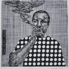 "Saatchi Art Artist Branislav Kuncak; Printmaking, ""Marlnoro Man - Limited Edition 4 of 200"" #art"