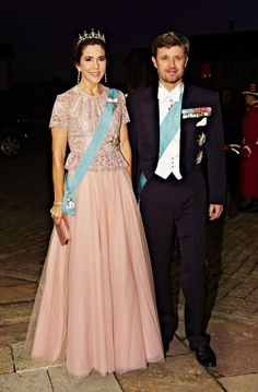 europeanmonarchies:  Crown Princess Mary and Crown Prince Frederik attend the gala dinner for the President and First Lady of Vietnam, September 18, 2013