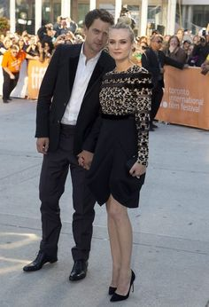 suicideblonde:    Joshua Jackson and Diane Kruger (in Valentino) at the TIFF premiere ofInescapable, September 11th