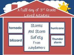 Storms and Storm Safety/Full Day of Activities for 3rd Graders