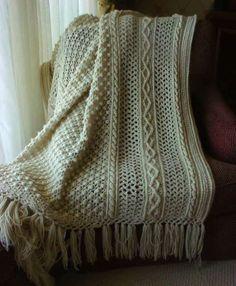 crochet afghans...winter craft