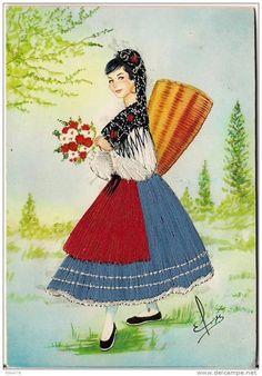 Friuli Italian girl Folk Costume, Costumes, Sewing Art, Sicily, Traditional Outfits, Disney Characters, Fictional Characters, Poster, Disney Princess