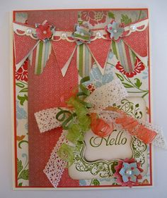 Curled ribbon & pennants