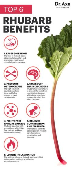 Rhubarb benefits - Dr. Axe http://www.draxe.com #health #holistic #natural