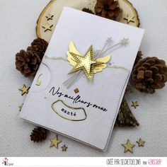 "Secretdelina : #Tampons et #matrices de coupe #dies #4enSCRAP ""Meilleurs #voeux 3"" #hiver #scrapbooking #DIY #loisirscréatifs #carte #carterie Tampons Transparents, Scrapbooking Diy, Gift Wrapping, Gifts, Greeting Cards, Creative Crafts, Noel, Pixies, Happy New Year"