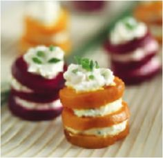 Beet and Goat Cheese Napoleon by Kathy Gunst