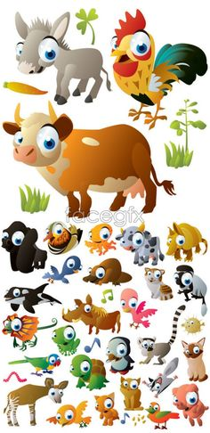 Cartoon animal images vector