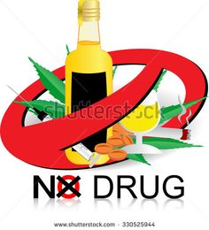 No Drugs sign vector abstract design, smoking and alcohol sign